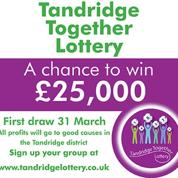 Buy a lottery ticket to support local good causes and be in with a chance of winning £25,000