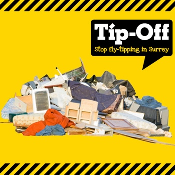 Help stop flytipping in Surrey